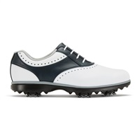 FootJoy Ladies eMerge Shoes Wide Width White/Navy 2018