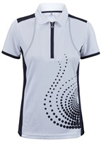 Daily Sports Ladies Spin Short Sleeve Polo Navy 2018
