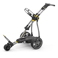 Powakaddy Compact C2i 18 Hole Lithium Electric Trolley Gun Metal + Honeycomb Trim
