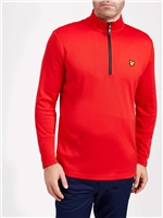 Lyle & Scott Fiddich 1/4 Zip Lightweight Midlayer Pavilion Red 2018