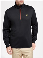 Lyle & Scott Wick 1/4 Zip Midlayer Black 2018
