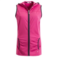 Green Lamb Ladies Jenny Stretch Gilet With Hood Fuchsia 2018
