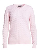 Rohnisch Ladies Cable Pullover Cherry Blossom 2018