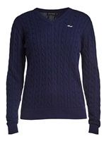 Rohnisch Ladies Cable Pullover Indigo Night 2018