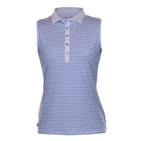 Calvin Klein Golf Ladies Marina Sleeveless Polo Sail/Natural 2018