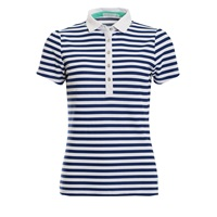 Green Lamb Ladies Pip Stripe Polo Shirt Ocean/White 2018