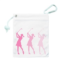Surprize Shop Silhouette Lady Golfer Tee And Accessory Bag Pink 2018