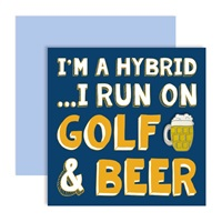 Surprize Shop I'm a hybrid Golf Beer Ball Marker Card 2018