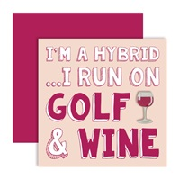 Surprize Shop I'm a Hybrid Golf Red Wine Ball Marker Card 2018