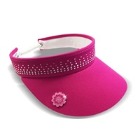 Surprize Shop Ladies Crystal Embellished Visor Hot Pink 2018