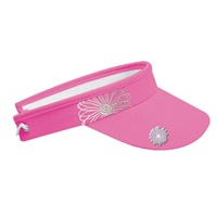 Surprize Shop Ladies Embroidered Flower Visor Pink 2018