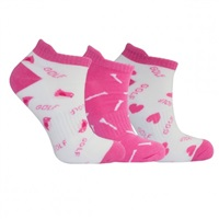Surprize Shop Golf Socks Pink and White 3 Pair 2018