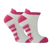Surprize Shop Ladies  Golf Socks Pair of Pink/White 2018