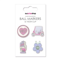 Surprize Shop Ball Marker & Visor Clip Set Love Golf 2018