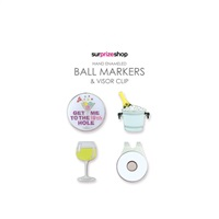 Surprize Shop Boozy Ball Marker & Visor Clip Set 2018