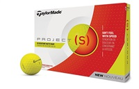 TaylorMade Project (s) Matte Yellow Golf Balls 2018