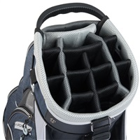 TaylorMade Classic Cart Bag Black/Navy Heather/Silver