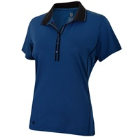 Island Green Ladies Deep Placket Polo French Navy 2018