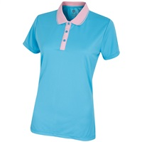 Island Green Ladies Quick Drying Comfort Golf Polo Summer Blue 2018