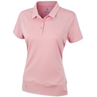 Island Green Ladies Quick Drying Performance Patten Polo Candy Pink 2018