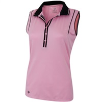 Island Green Ladies Sleeveless Moisture Wicking Polo Candy Pink 2018