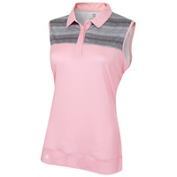 Island Green Ladies Sleeveless Quick Drying Polo Candy Pink 2018
