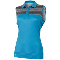 Island Green Ladies Sleeveless Quick Drying Polo Summer Blue 2018