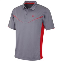 Island Green Moisture Wicking Polo Shirt Charcoal/Red
