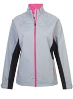 Proquip Ladies Aquastorm Ebony Jacket Dove Grey/Black/Bright Pink