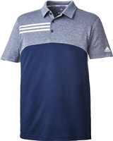 Adidas 3-Stripes Heather Blocked Polo Collegiate Navy Heathered 2018