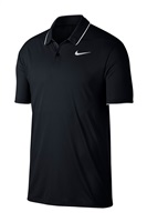 Nike Golf Dry Polo Essential Solid Polo Black/White/White 2018