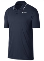 Nike Golf Dry Polo Essential Solid Polo Blue/White/White 2018