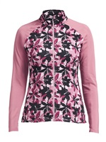 Rohnisch Ladies Warming Full Zip Sweater Pink Lily 2018