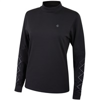 Island Green Ladies Long Sleeve Base Layer Black 2018