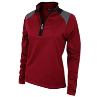 Island Green Half Zip Mid Layer Top Heather Red 2018