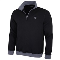 Island Green 1/4 Zip Bonded Knit Thermal Black 2018