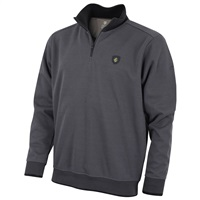 Island Green 1/4 Zip Bonded Knit Thermal Sweater Grey 2018