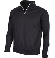 Island Green 1/4 Zip Ribbed Neck Top Black/White 2018