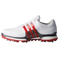 Adidas Tour360 Boost 2.0 Shoes Cloud White/Scarlet/Dark Silver Metallic