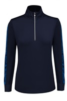 Daily Sports Ladies Anna Long Sleeve Zip Neck Navy 2018