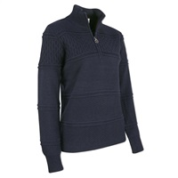 Daily Sports Ladies Gabby Long Sleeve Lined Pullover Navy 2018