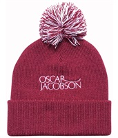 Oscar Jacobson Knitted Golf Hat II Faded Red 2018