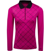 Calvin Klein Golf Ladies Array Long Sleeve Polo Foxglove 2018
