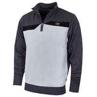 Cutter & Buck Staggered Lined Windblock Golf Sweater Charcoal/Silver Grey 2018