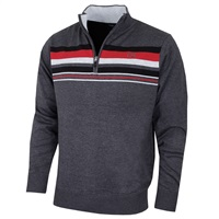 Cutter & Buck Striped Lined Windblock Golf Sweater Chamelge 2018
