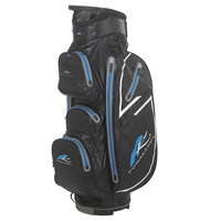 Powakaddy Dri Edition Waterproof Cart Bag Black/Gunmetal/Blue
