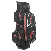 Powakaddy Dri Edition Waterproof Cart Bag Black/Gunmetal/Red