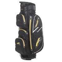 Powakaddy Dri Edition Waterproof Cart Bag Black/Gunmetal/Yellow