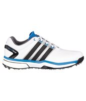 Adidas Adipower Boost Golf Shoes - White/Black/Blue