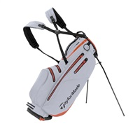 TaylorMade FlexTech Waterproof Stand Bag Silver/Blood Orange